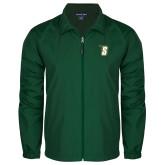 Full Zip Dark Green Wind Jacket-S
