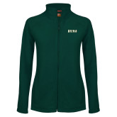 Ladies Fleece Full Zip Dark Green Jacket-Siena