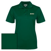 Ladies Dark Green Dry Mesh Polo-Siena