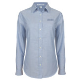 Ladies Light Blue Oxford Shirt-Siena
