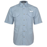 Light Blue Short Sleeve Performance Fishing Shirt-Siena