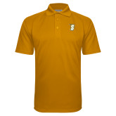 Gold Textured Saddle Shoulder Polo-S
