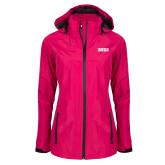 Ladies Dark Fuchsia Waterproof Jacket-Siena