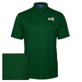 Dark Green Performance Fine Jacquard Polo-Official Logo