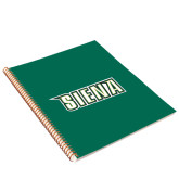College Spiral Notebook w/Gold Coil-Siena