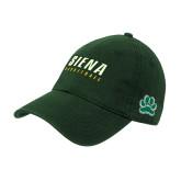 Dark Green Twill Unstructured Low Profile Hat-Basketball