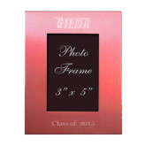 Pink Brushed Aluminum 3 x 5 Photo Frame-Siena Engraved, Personalized