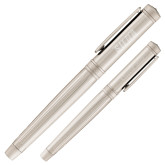 Cutter & Buck American Classic Midlands Silver Rollerball Pen-Siena Engraved, Personalized