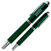 Carbon Fiber Green Rollerball Pen-Siena Engraved, Personalized