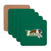 Hardboard Coaster w/Cork Backing 4/set-Official Logo