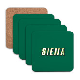 Hardboard Coaster w/Cork Backing 4/set-Siena