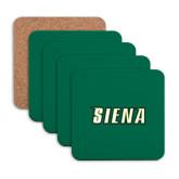 Hardboard Coaster w/Cork Backing 4/set-Siena