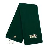 Dark Green Golf Towel-Official Logo