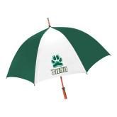 62 Inch Forest Green/White Umbrella-Siena w/Paw
