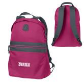 Pink Raspberry Nailhead Backpack-Siena