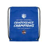 Royal Drawstring Backpack-2019 A10 Basketball Champions