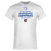 White T Shirt-2019 A10 Basketball Champions