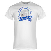 White T Shirt-2019 Mens Basketball A10 Champions