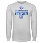 White Long Sleeve T Shirt-2019 Mens Basketball Champions