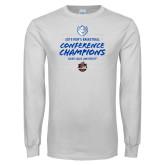 White Long Sleeve T Shirt-2019 A10 Basketball Champions