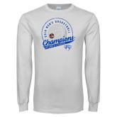 White Long Sleeve T Shirt-2019 Mens Basketball A10 Champions