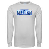 White Long Sleeve T Shirt-Saint Louis Billikens in Frame