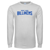 White Long Sleeve T Shirt-Saint Louis Billikens