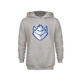 Youth Grey Fleece Hood-Billiken