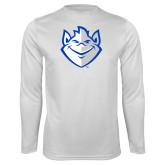 Performance White Longsleeve Shirt-Billiken