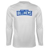 Performance White Longsleeve Shirt-Saint Louis Billikens in Frame