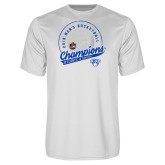 Performance White Tee-2019 Mens Basketball A10 Champions