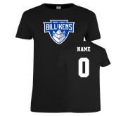 Ladies Black T Shirt-Primary Mark, Custom tee w/ name and #