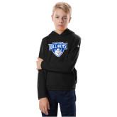 Youth Under Armour Black Fleece Hoodie-Primary Mark