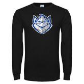 Black Long Sleeve T Shirt-Billiken Distressed