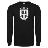 Black Long Sleeve T Shirt-Mens Soccer Shield