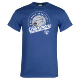 Royal T Shirt-2019 Mens Basketball A10 Champions