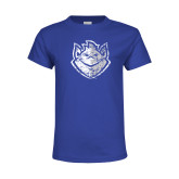 Youth Royal T Shirt-Billiken Distressed