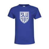 Youth Royal T Shirt-Womens Soccer Shield