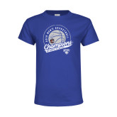 Youth Royal T Shirt-2019 Mens Basketball A10 Champions