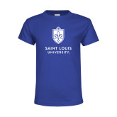 Youth Royal T Shirt-Primary University Mark