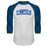 White/Royal Raglan Baseball T Shirt-Saint Louis Billikens in Frame