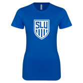 Next Level Ladies SoftStyle Junior Fitted Royal Tee-Womens Soccer Shield