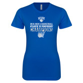 Next Level Ladies SoftStyle Junior Fitted Royal Tee-2019 Mens Basketball Champions
