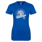 Next Level Ladies SoftStyle Junior Fitted Royal Tee-2019 Mens Basketball A10 Champions