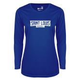 Ladies Syntrel Performance Royal Longsleeve Shirt-Saint Louis Baseball - In Container