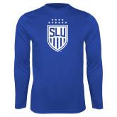 Performance Royal Longsleeve Shirt-Mens Soccer Shield