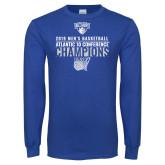 Royal Long Sleeve T Shirt-2019 Mens Basketball Champions