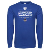 Royal Long Sleeve T Shirt-2019 A10 Basketball Champions