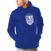 Under Armour Royal Armour Fleece Hoodie-Mens Soccer Shield