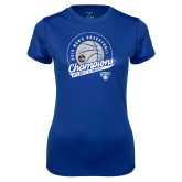 Ladies Syntrel Performance Royal Tee-2019 Mens Basketball A10 Champions